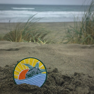Hawksbill Turtle - Sunset Edition Badge