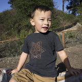 Save The Critters Amur Leopard Kids Tee - Basalt Gray