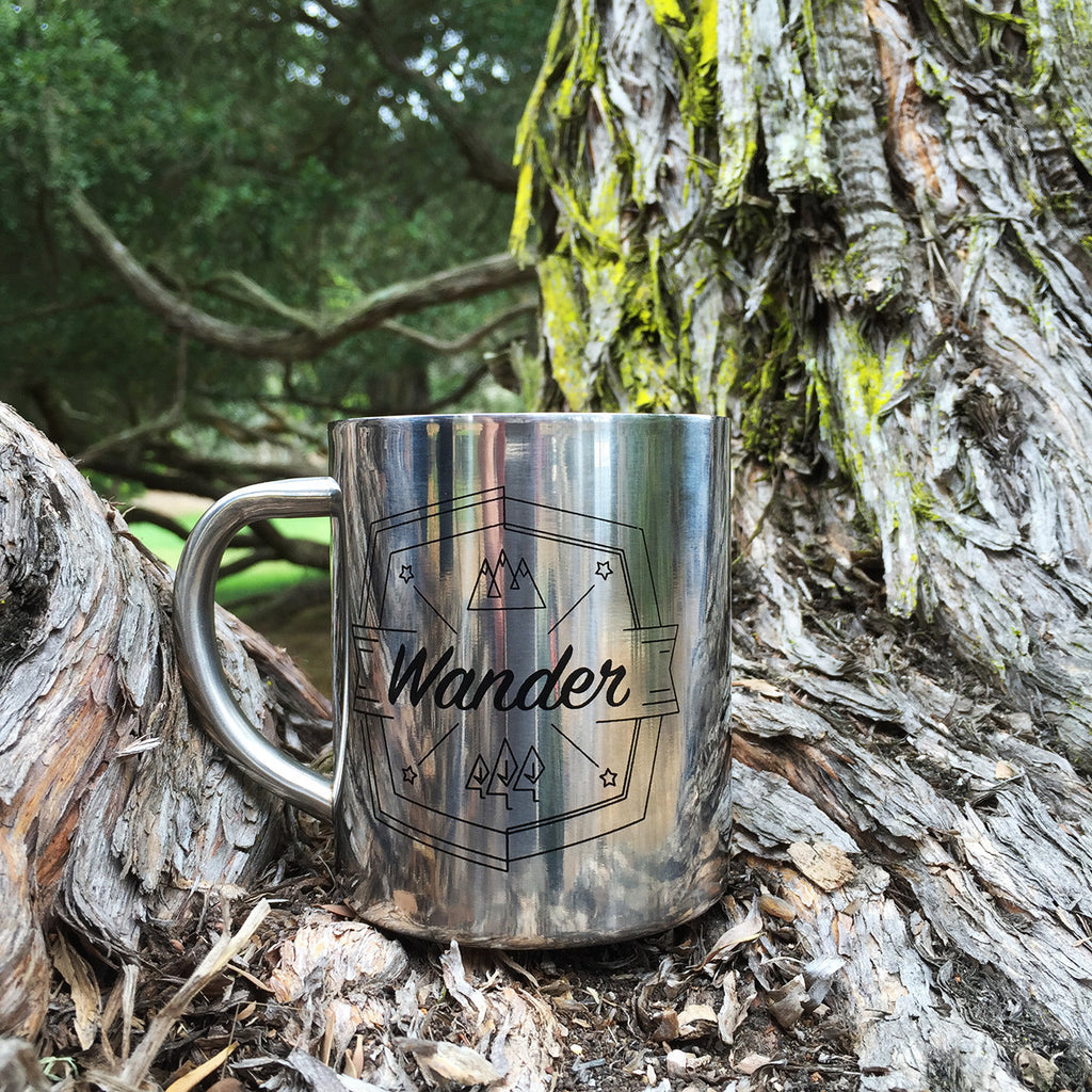 Double-walled Stainless Steel Camp Mug - Wander