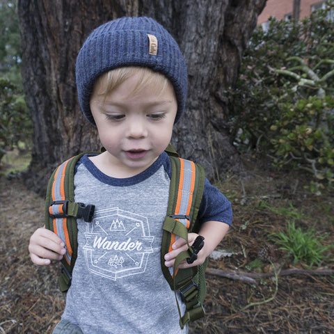 Wander Tee - Tri-blend Baseball Tee - Kids & Babies sizes