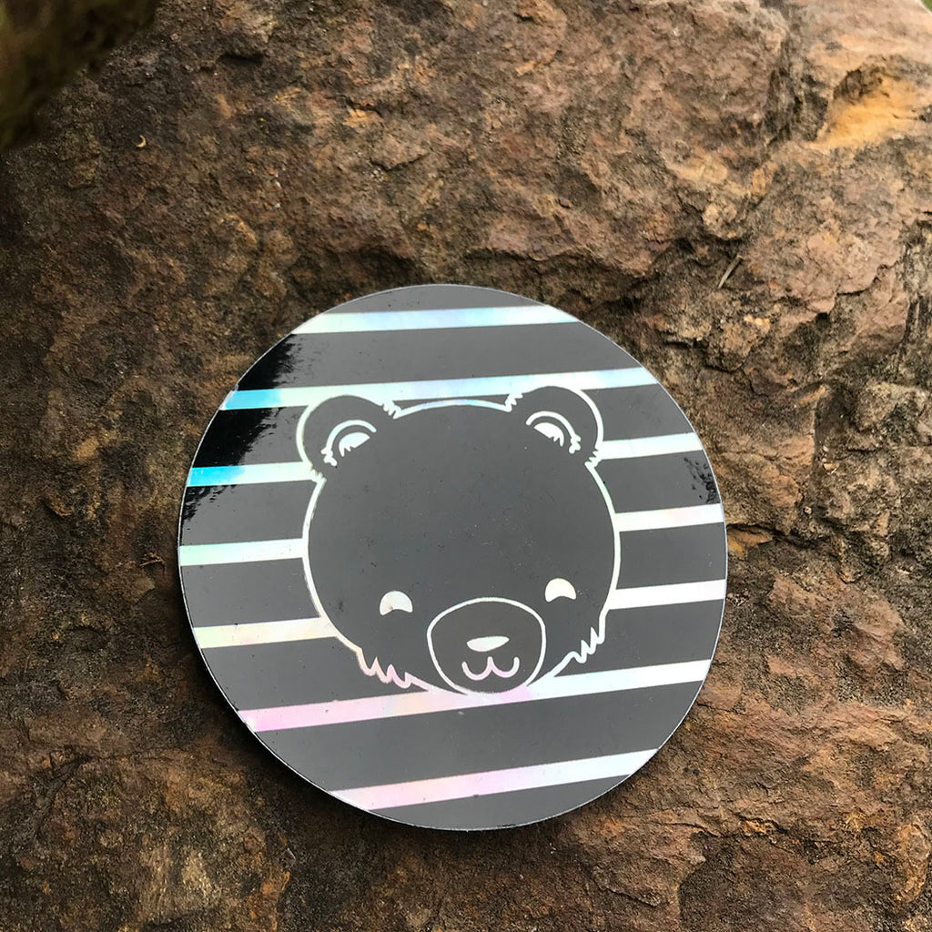 Retro Stripe Holographic Sticker
