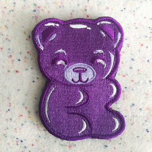 Grape Gummy Bear Badge