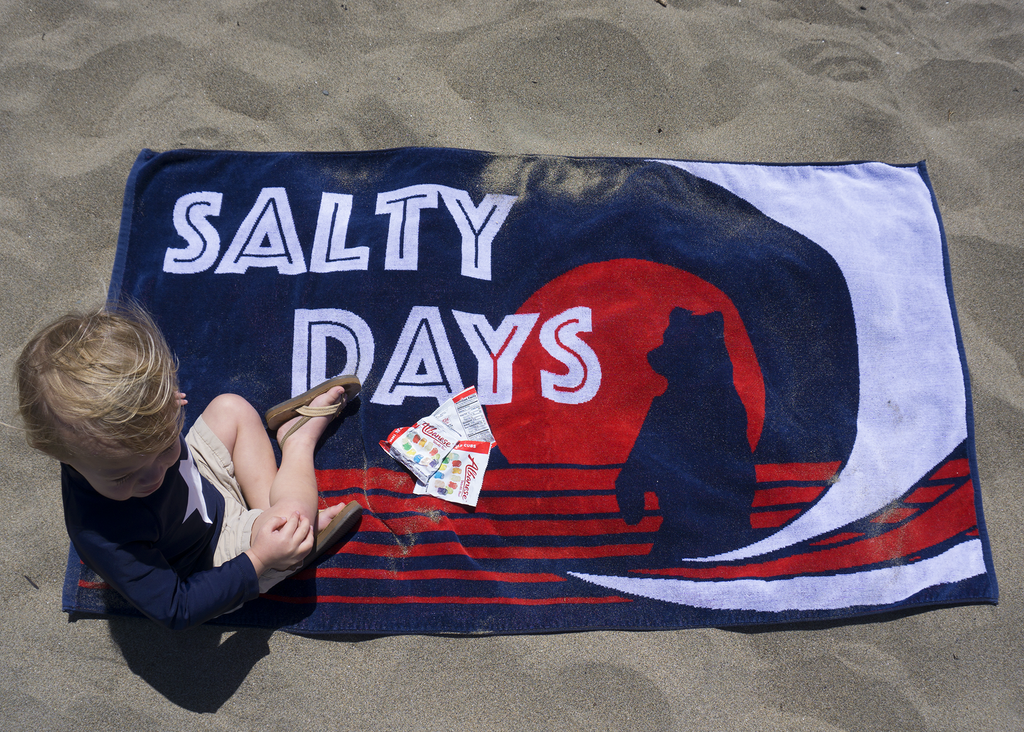 Salty Days Luxury Cotton Beach Towel - Made In The USA!