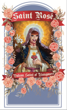 Load image into Gallery viewer, THE SAINT ROSÉ PRAYER CANDLE