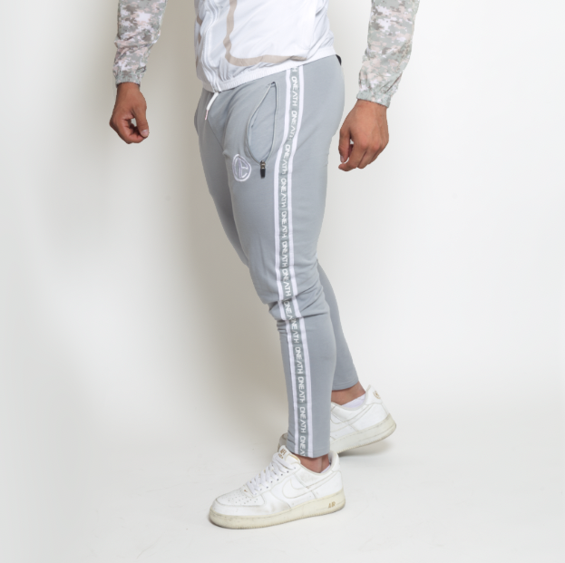 Jogger One Ath Stripes Gris