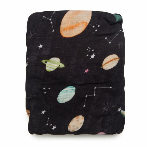 LUXE FITTED CRIB SHEET - PLANET