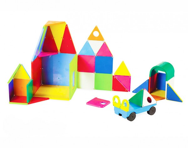 Magna-Tiles® Solid Colors 48 Piece Deluxe Set
