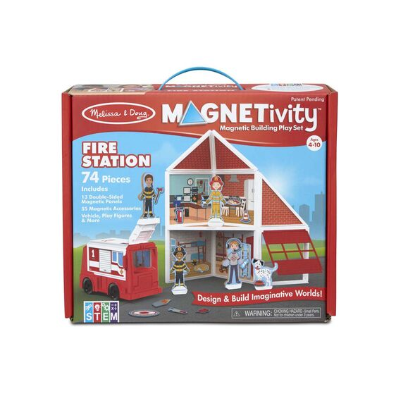 Magnetivity Magnetic Building Play Set - Fire Station