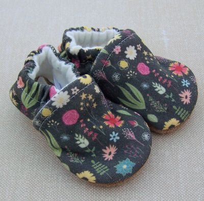 Calico Floral Slippers