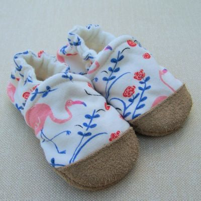 Flamingos Organic Slippers