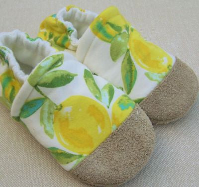Lemon Drop Cotton Slippers
