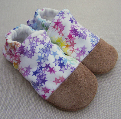 Rainbow Stars Organic Slippers
