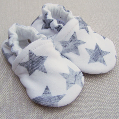 Grey Stars Organic Slippers