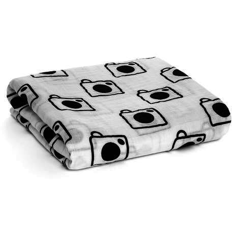 Cameras Organic Cotton Muslin Swaddle