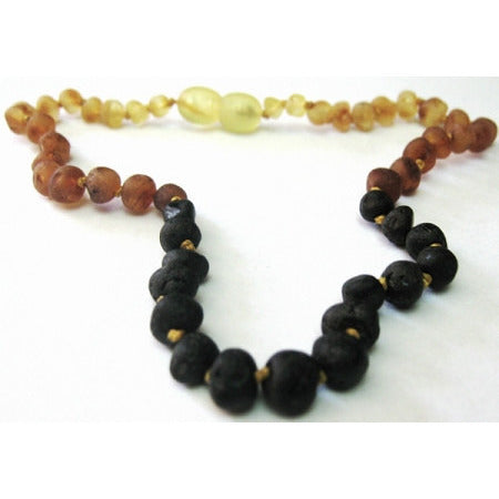 Inspired by finn Raw Amber Tri-color ADULT Necklace - Lil Tulips