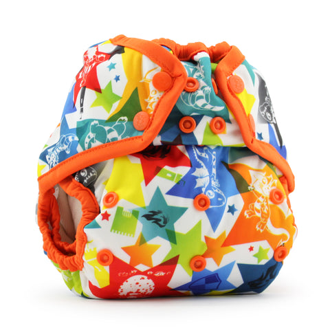 Rumparooz One Size Cloth Diaper Cover - Dragons Fly - Poppy
