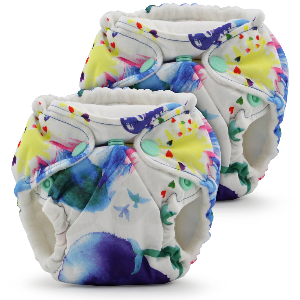 Lil Joey All In One Cloth Diaper (2 pk) - Lava