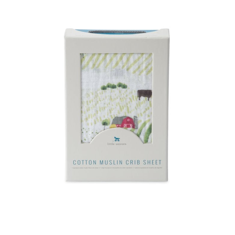 Rolling Hills Cotton Muslin Crib Sheet