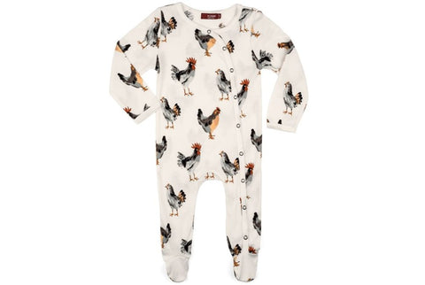 Chickens Footed Romper