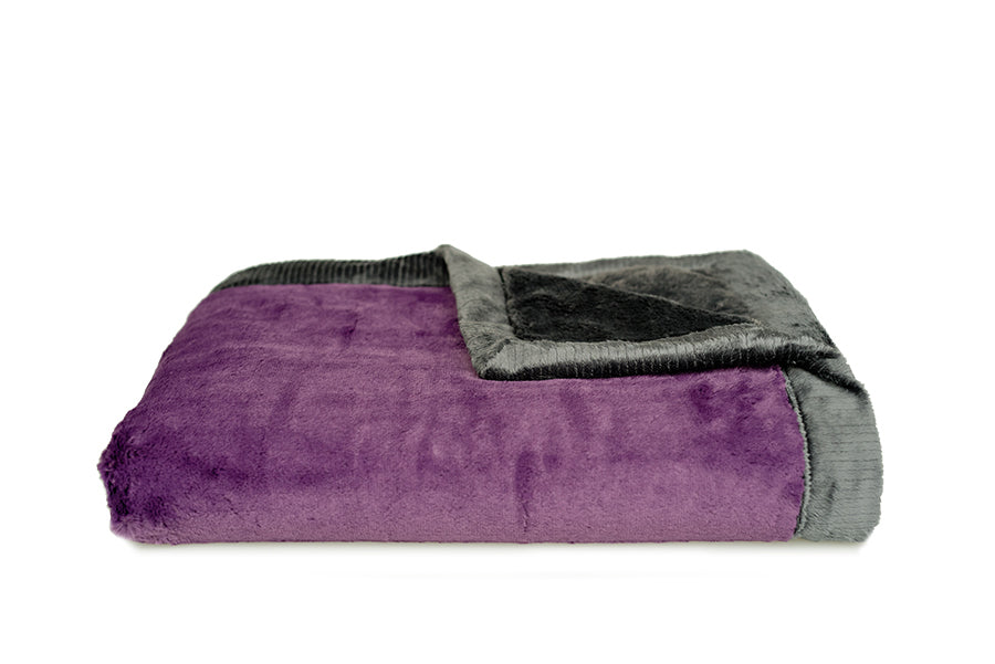 Eggplant Lush/Charcoal Lush Toddler to Teen Blanket