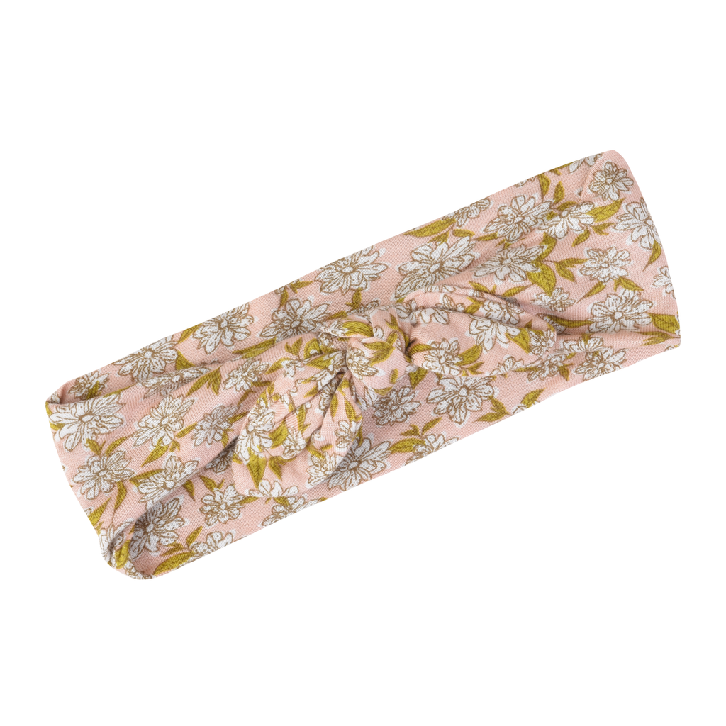 Rose Floral Bamboo Headband