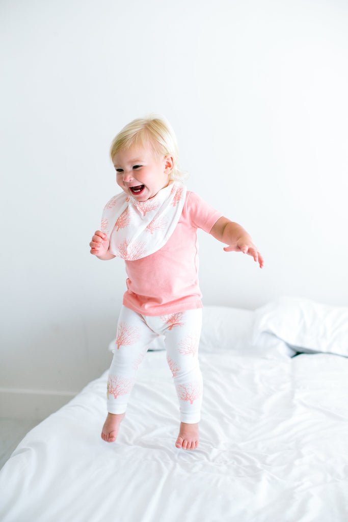 L'Oved Baby Coral Sea Fan Organic Leggings