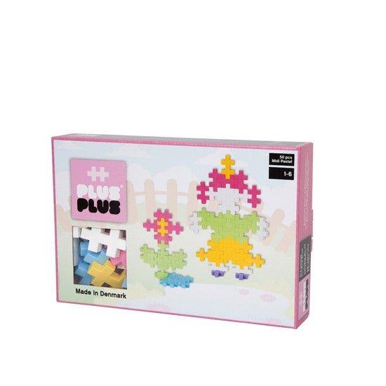 Plus Plus Midi 50 pc Pastel - Lil Tulips - 1