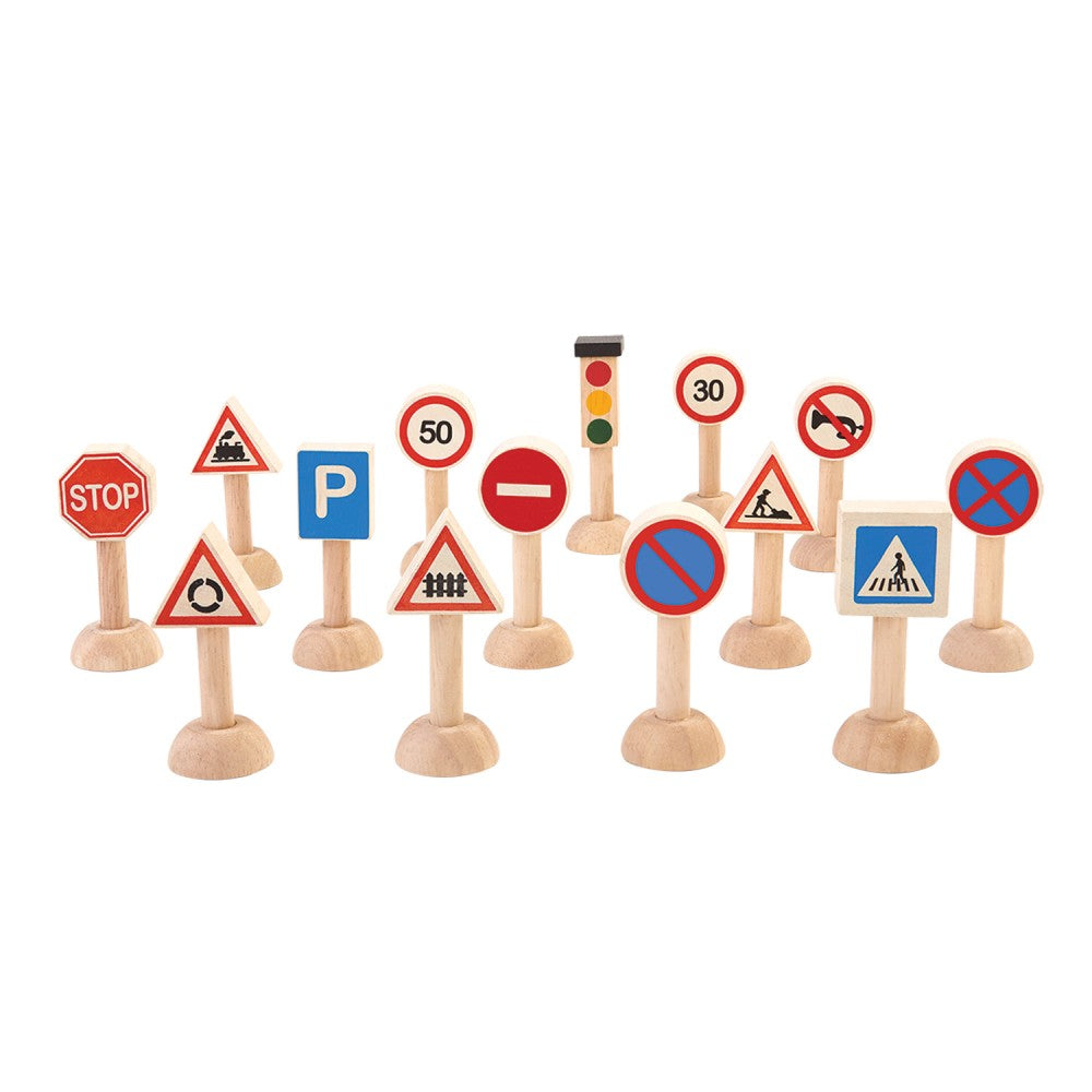 Set Of Traffic Signs & Lights