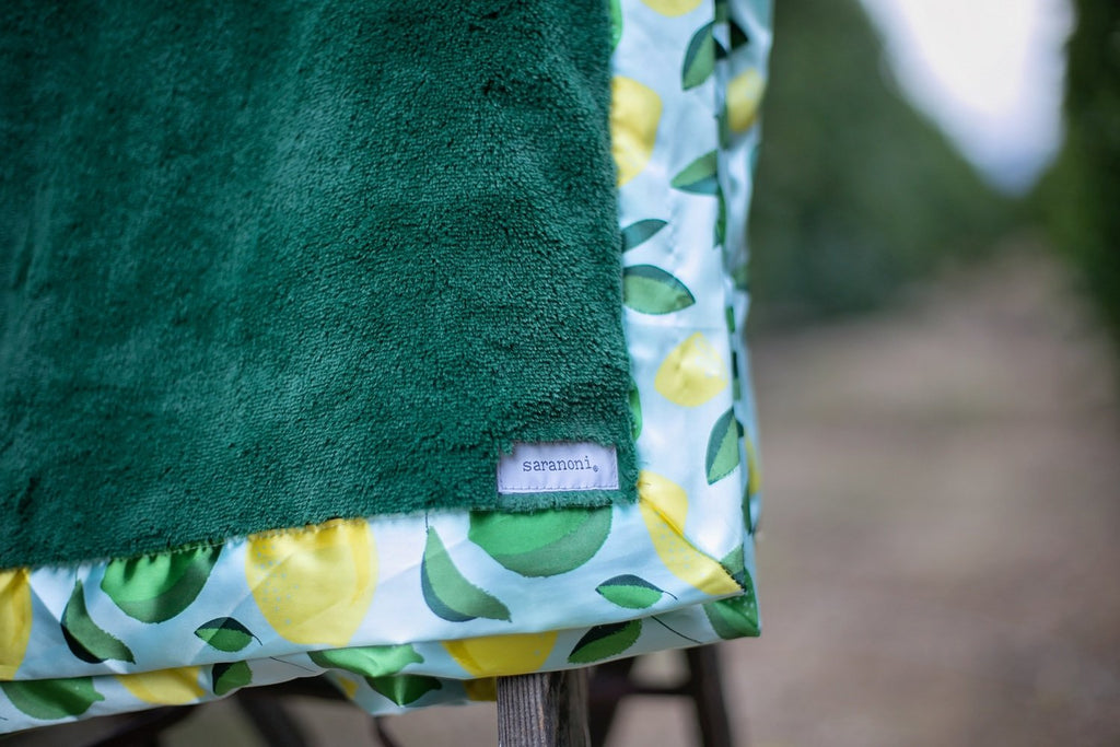 Deep Green Lush w/Citrus Grove Satin Border Mini