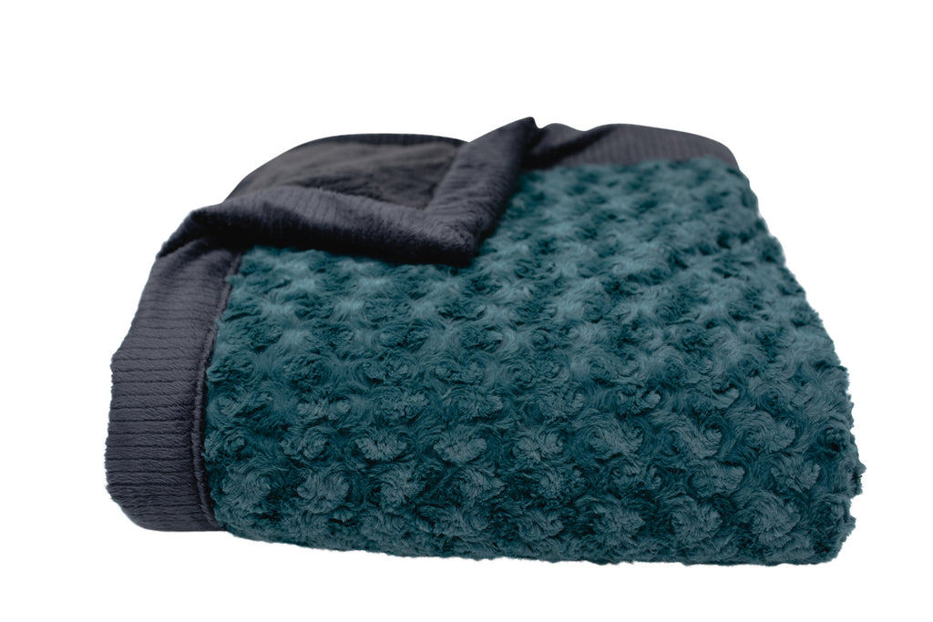 Emerald Swirl/Charcoal Lush Mini Blanket