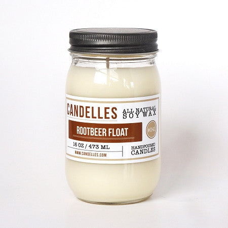 Candelles 16 oz All Natural Soy Wax Candle Root Beer Float - Lil Tulips