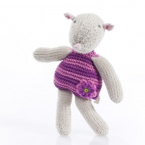 Pebble Mouse Rattle - Pink - Lil Tulips