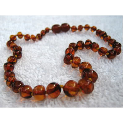 Inspired by Finn Baltic Amber Necklace [Cognac] - Lil Tulips