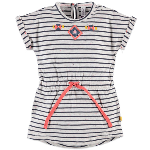 Girls Indigo Striped Dress
