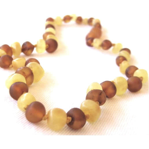 inspired by finn Baltic Amber Necklace [Unpolished Mixture] - Lil Tulips