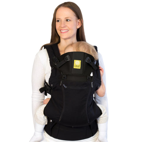 Lillebaby All Seasons Baby Carrier Black - Lil Tulips - 1
