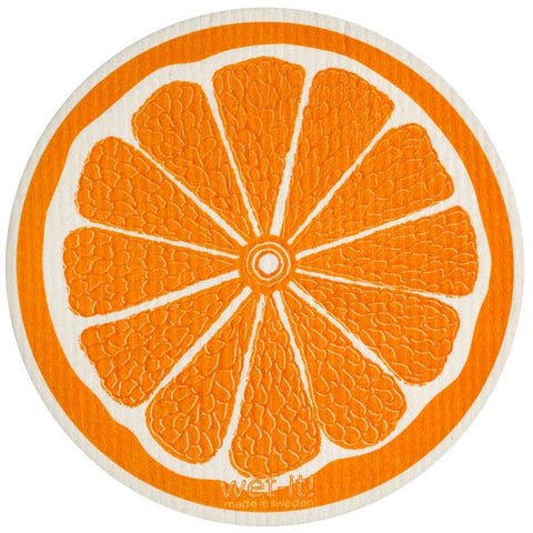 Orange Round Swedish Cloth