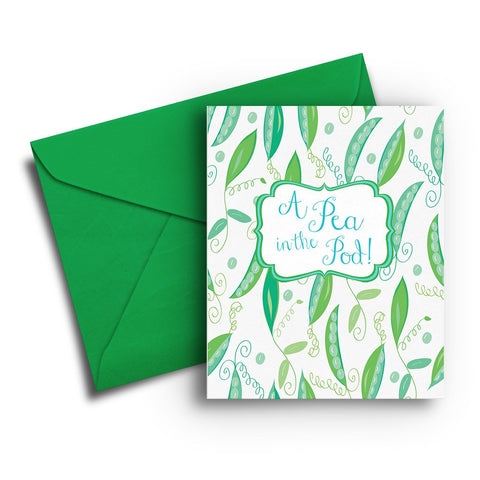 Pea in the Pod Baby Card