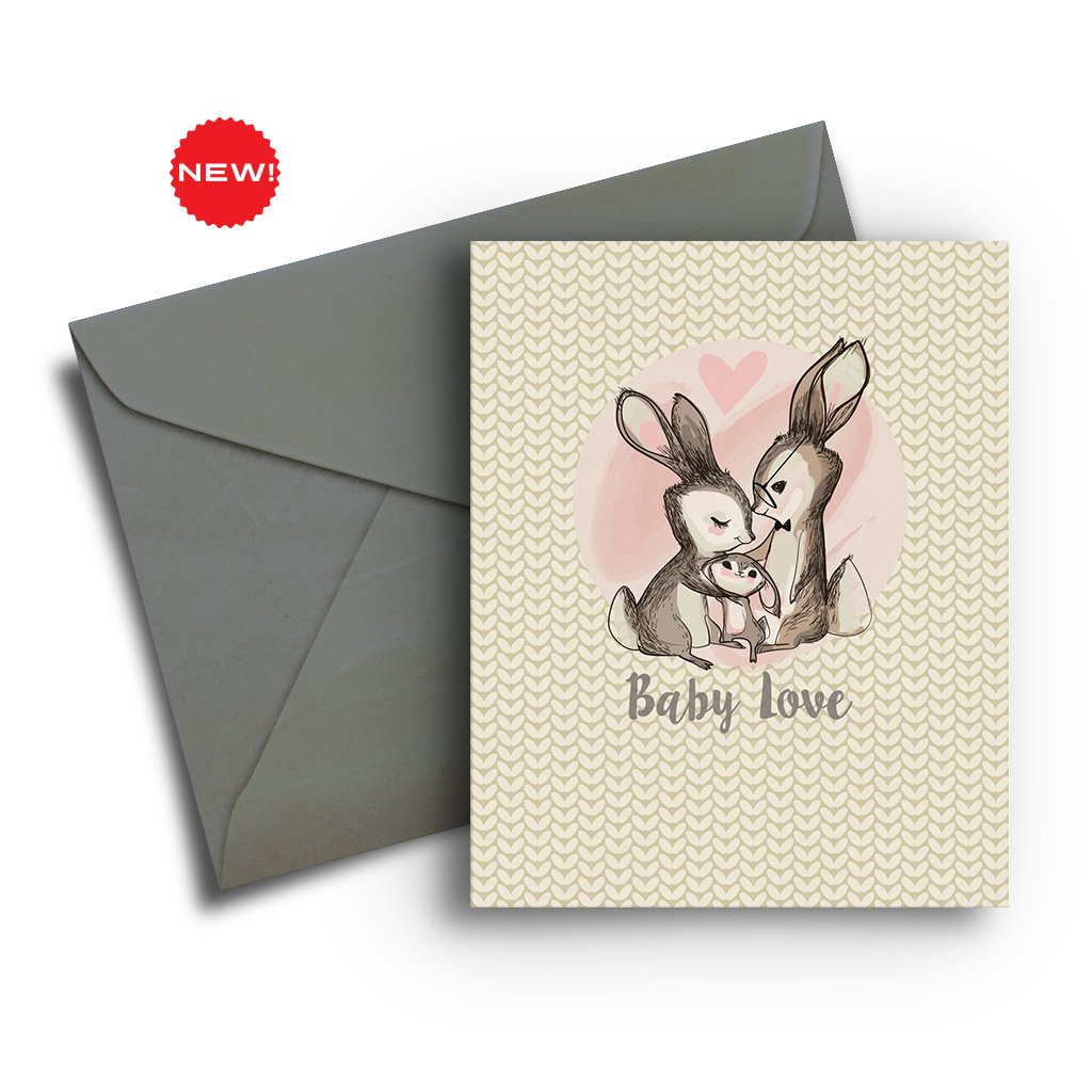 Bunny Family Baby Card
