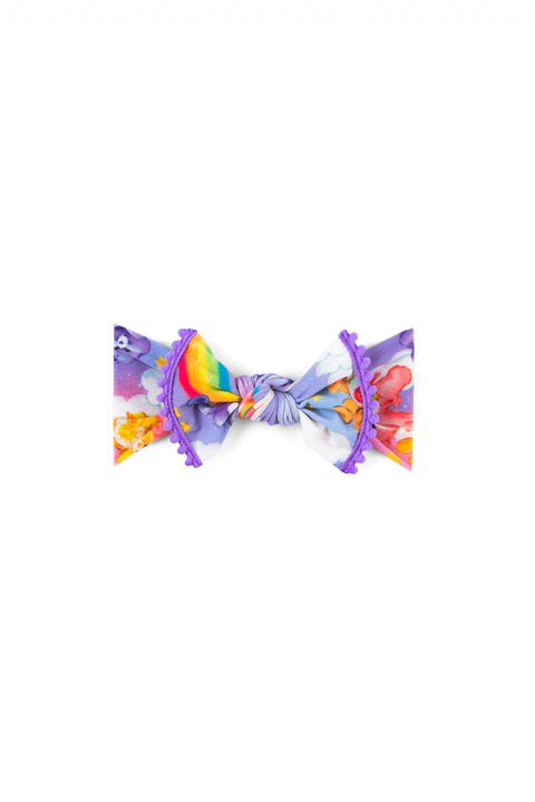 Care Bear Trimmed Printed Knot Lilac Rainbow