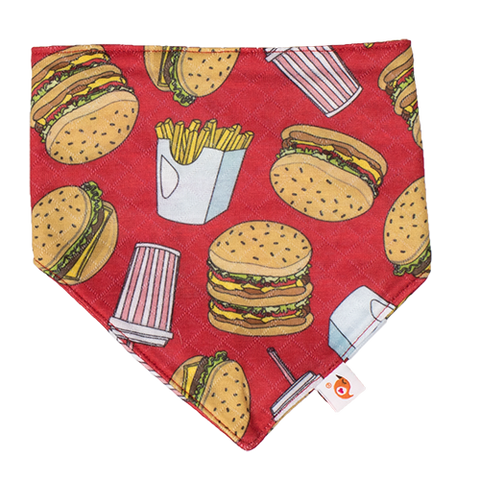Burger Adventure Bandana Bib
