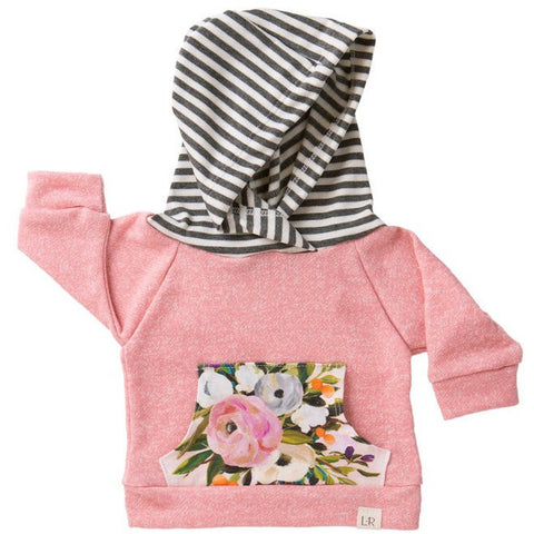 Lulu and Roo Blush Bouquet Hoodie