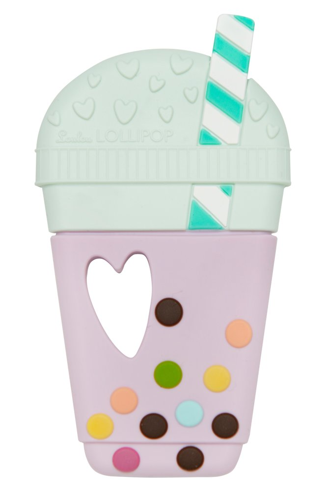Taro Bubble Tea Silicone Teether - Single