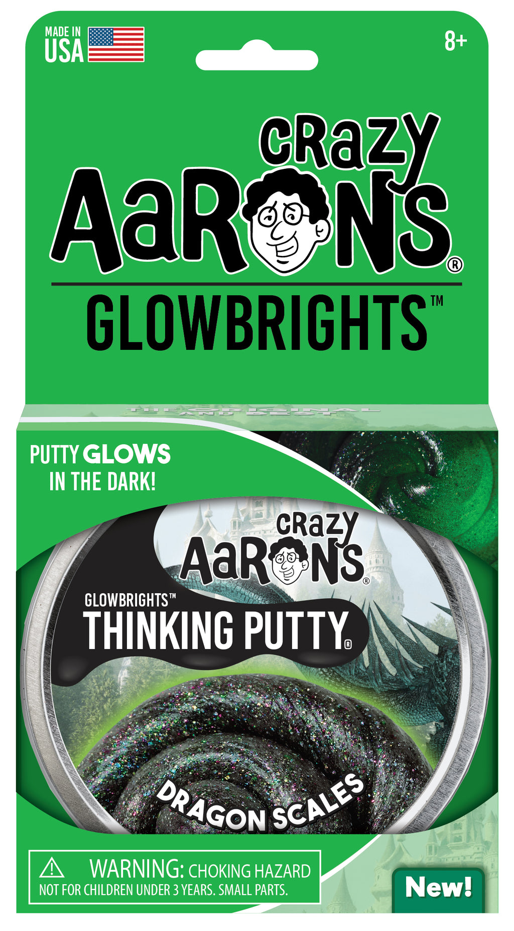 Crazy Aaron's Glowbrights™ Dragon Scales Putty