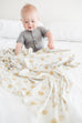 Chip Knit Swaddle Blanket