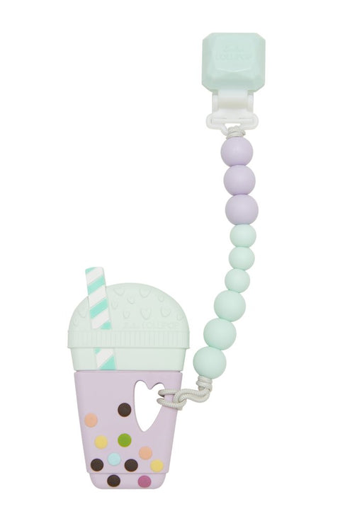 Taro Bubble Tea Teether Set Gem - Lilac Mint