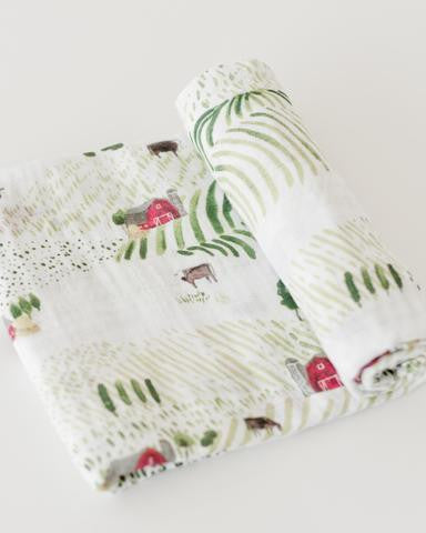 Rolling Hills Cotton Swaddle