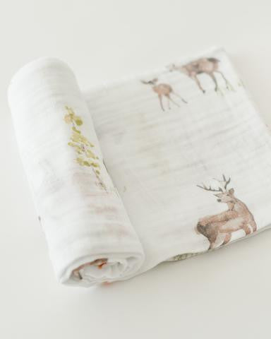 Oh Deer Little Unicorn Single Cotton Swaddle