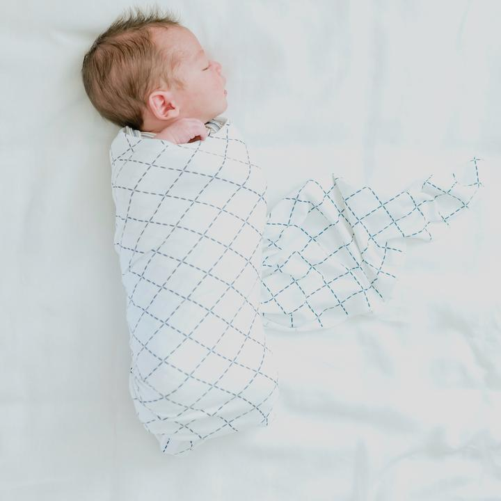 Dashed Square Stretchy Swaddle