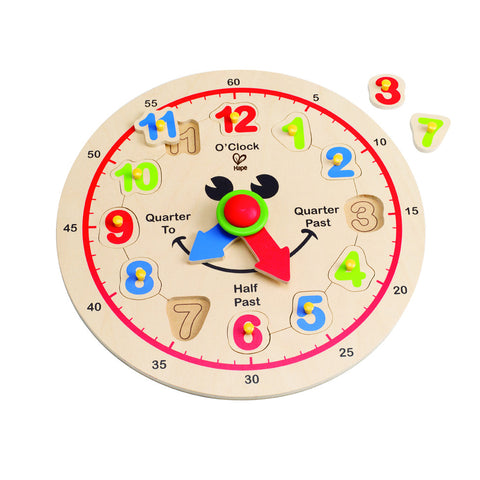 Hape Happy Hour Clock - Lil Tulips